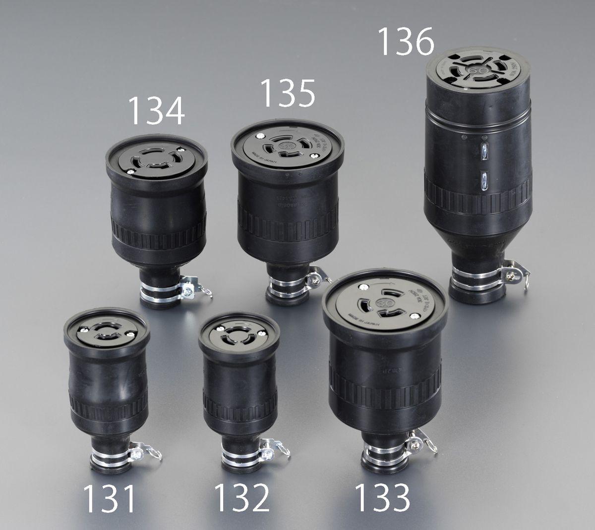 【メーカー在庫あり】 エスコ ESCO 250V/60A 防水型引掛けコネクター 接地3P 000012257917 JP店