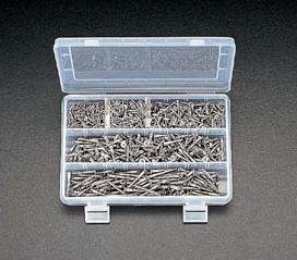 【メーカー在庫あり】 エスコ ESCO 2.4-4.1mm 皿頭木ねじセット ステンレス製 000012041917 JP店