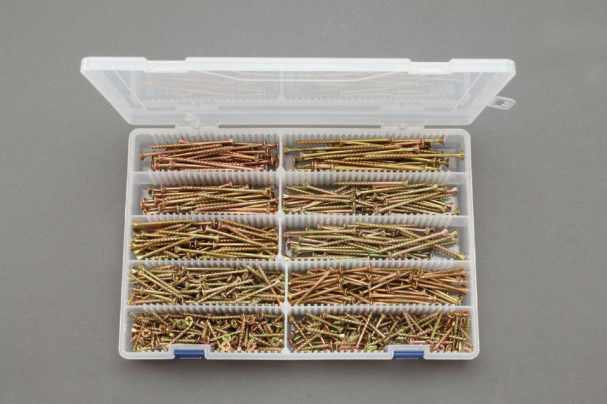 【メーカー在庫あり】 エスコ ESCO 4.0/4.3/4.7mm 木工用ビスセット 中細 000012255795 JP店
