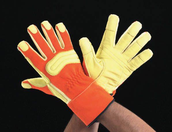【メーカー在庫あり】 エスコ(ESCO) L 手袋(耐切創/ケブラー 革付) 000012045876 JP