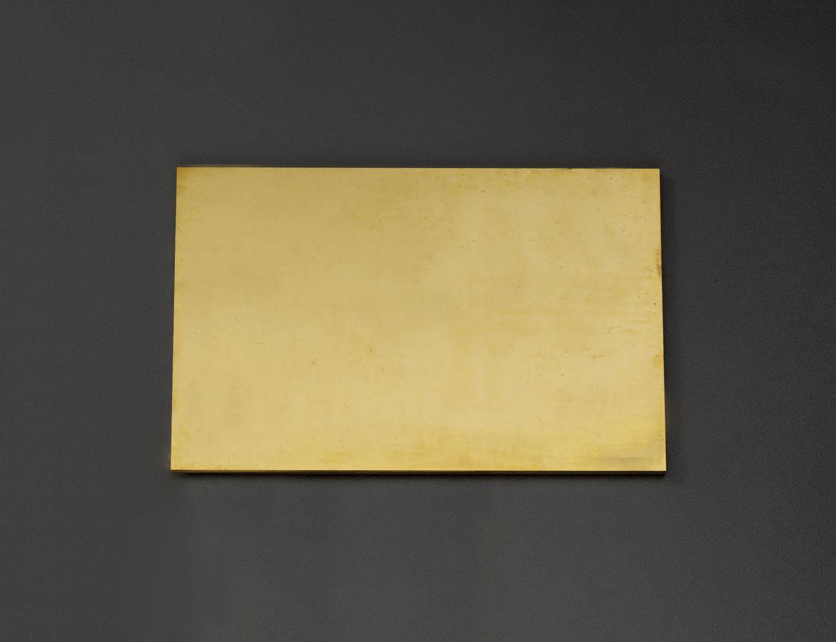 【メーカー在庫あり】 エスコ ESCO 600x300x 8.0mm 黄銅板 000012220033 JP