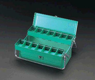 【メーカー在庫あり】 エスコ ESCO 410x200x180mm 工具箱(スチール製) 000012002896 JP