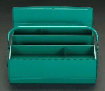 【メーカー在庫あり】 エスコ ESCO 420x200x150mm 工具箱(両開き/スティール製) 000012011475 JP