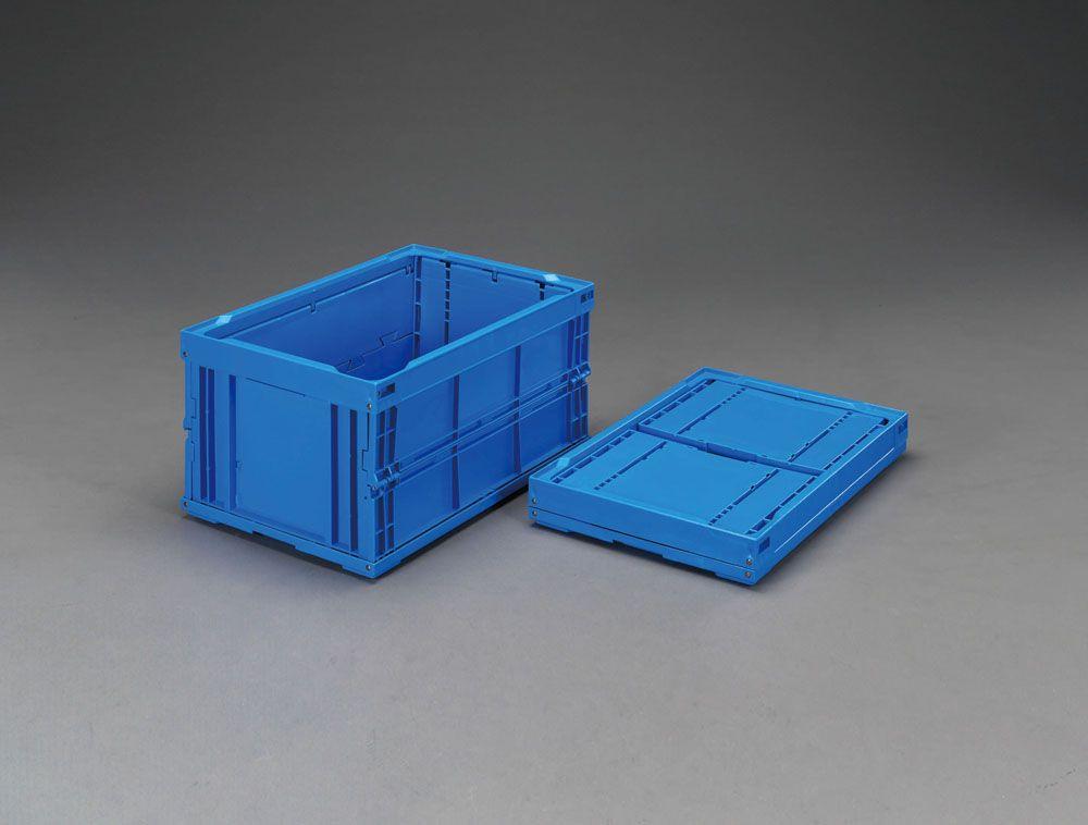 【メーカー在庫あり】 エスコ ESCO 530x366x320mm/48.0L 折畳コンテナ(青/2個) 000012061670 JP