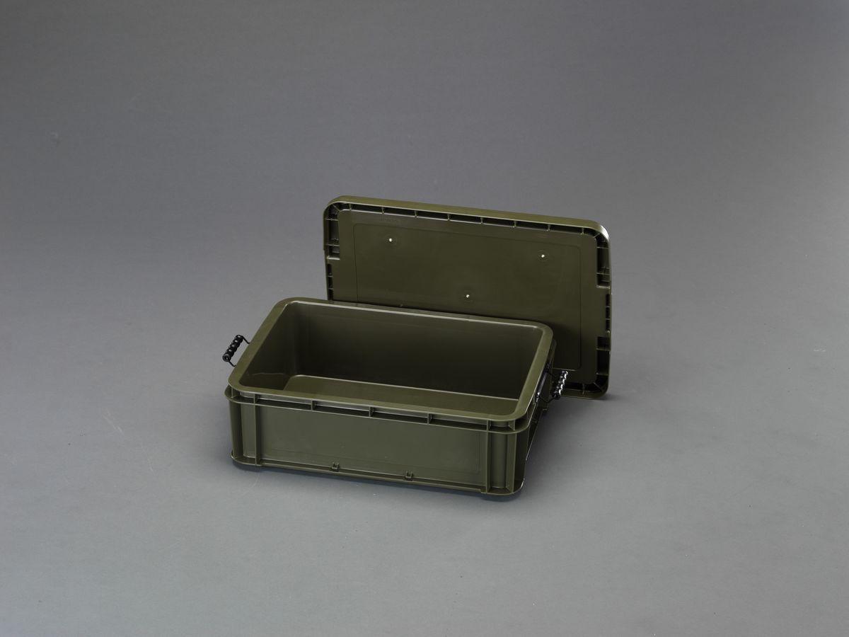 【メーカー在庫あり】 エスコ ESCO 568x406x186mm 道具箱(バックル付/OD色) 000012248144 JP