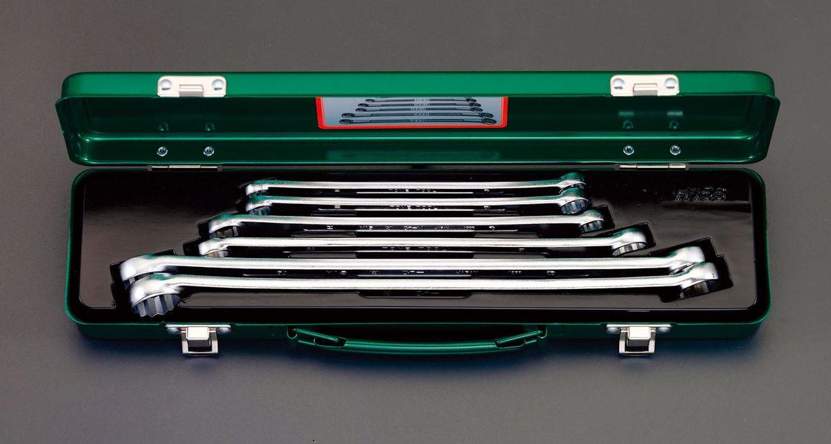 【メーカー在庫あり】 エスコ ESCO 6本組 メガネレンチ(ロングサイズ) 000012098272 JP店