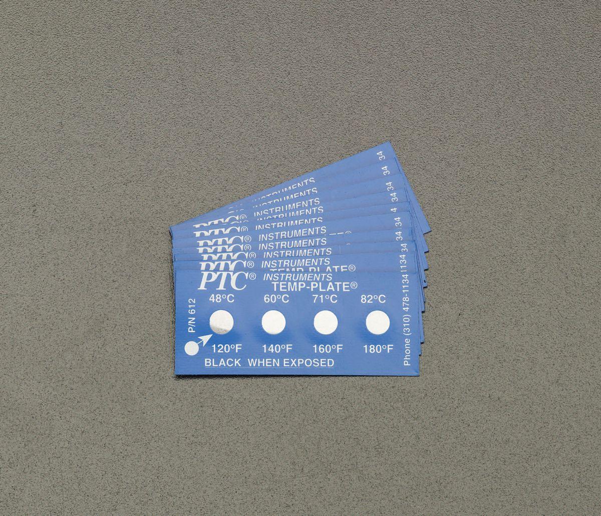 【メーカー在庫あり】 エスコ ESCO 65, 71, 76, 82℃ 温度管理用ラベル(10枚) 000012228041 JP店