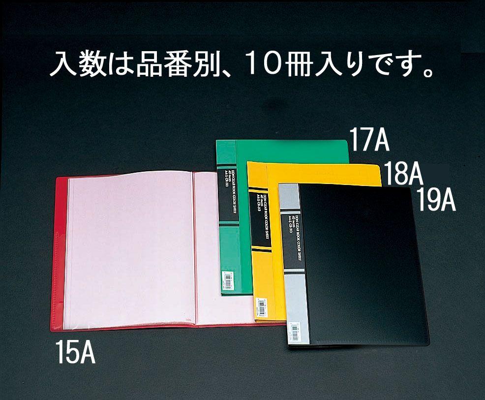 【メーカー在庫あり】 エスコ ESCO A4 クリアーブック(黒/10冊) 000012035073 JP