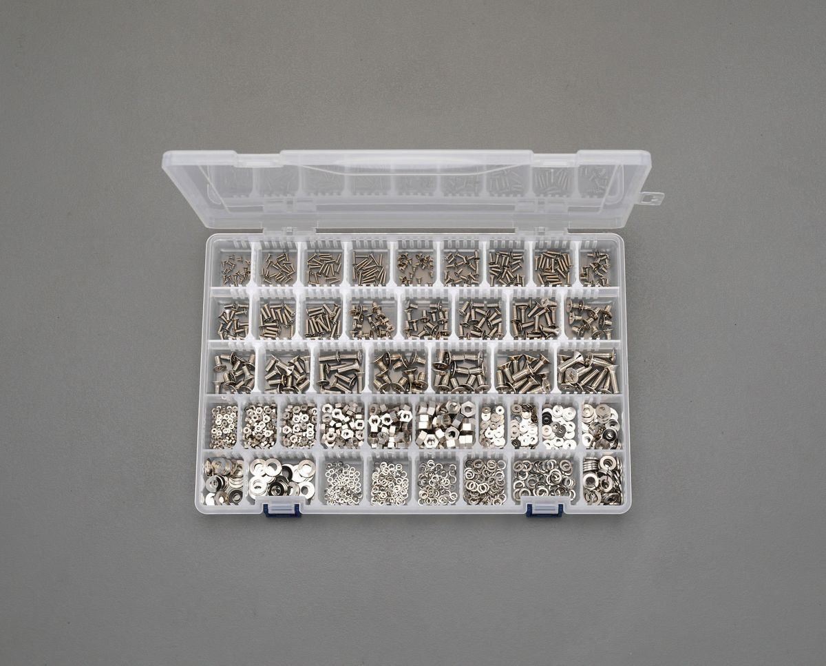 【メーカー在庫あり】 エスコ ESCO M2- M6 皿頭小ねじ・ナット・ワッシャーセット 真鍮製 000012242833 JP店