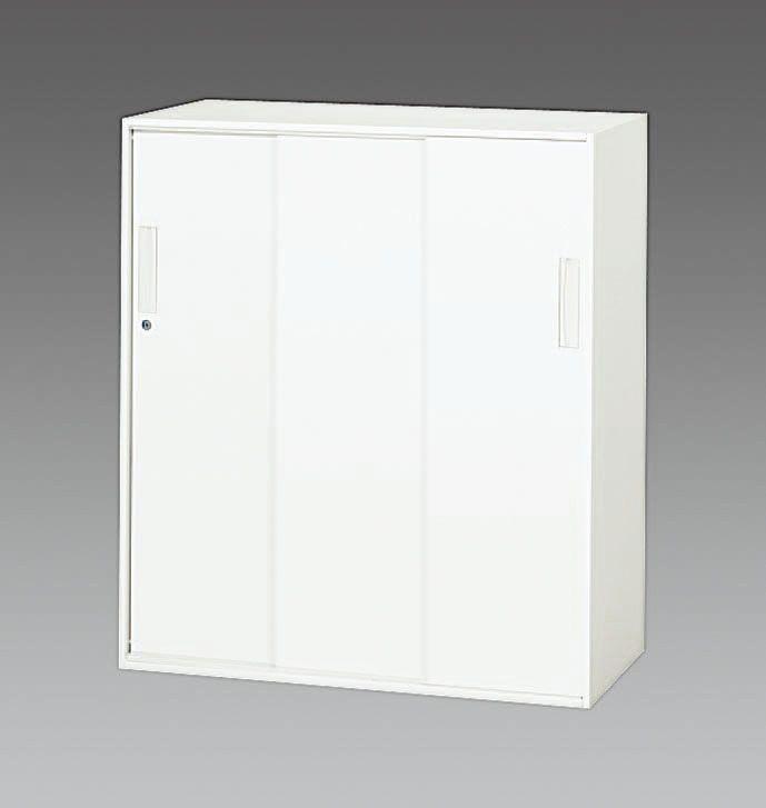【メーカー在庫あり】 エスコ ESCO 900x500x1030mm 3枚引き戸書庫 000012261049 JP店