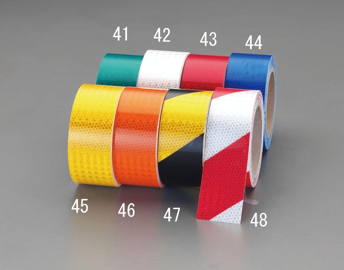 【メーカー在庫あり】 エスコ ESCO 50mmx9.1m ハイレベル反射テープ 赤/白 000012232894 JP店