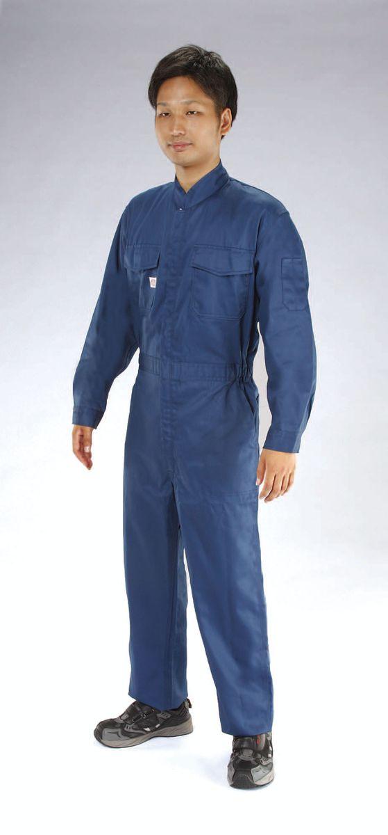 【メーカー在庫あり】 エスコ ESCO M 継ぎ作業服 帯電防止/ネイビー 000012233611 JP店