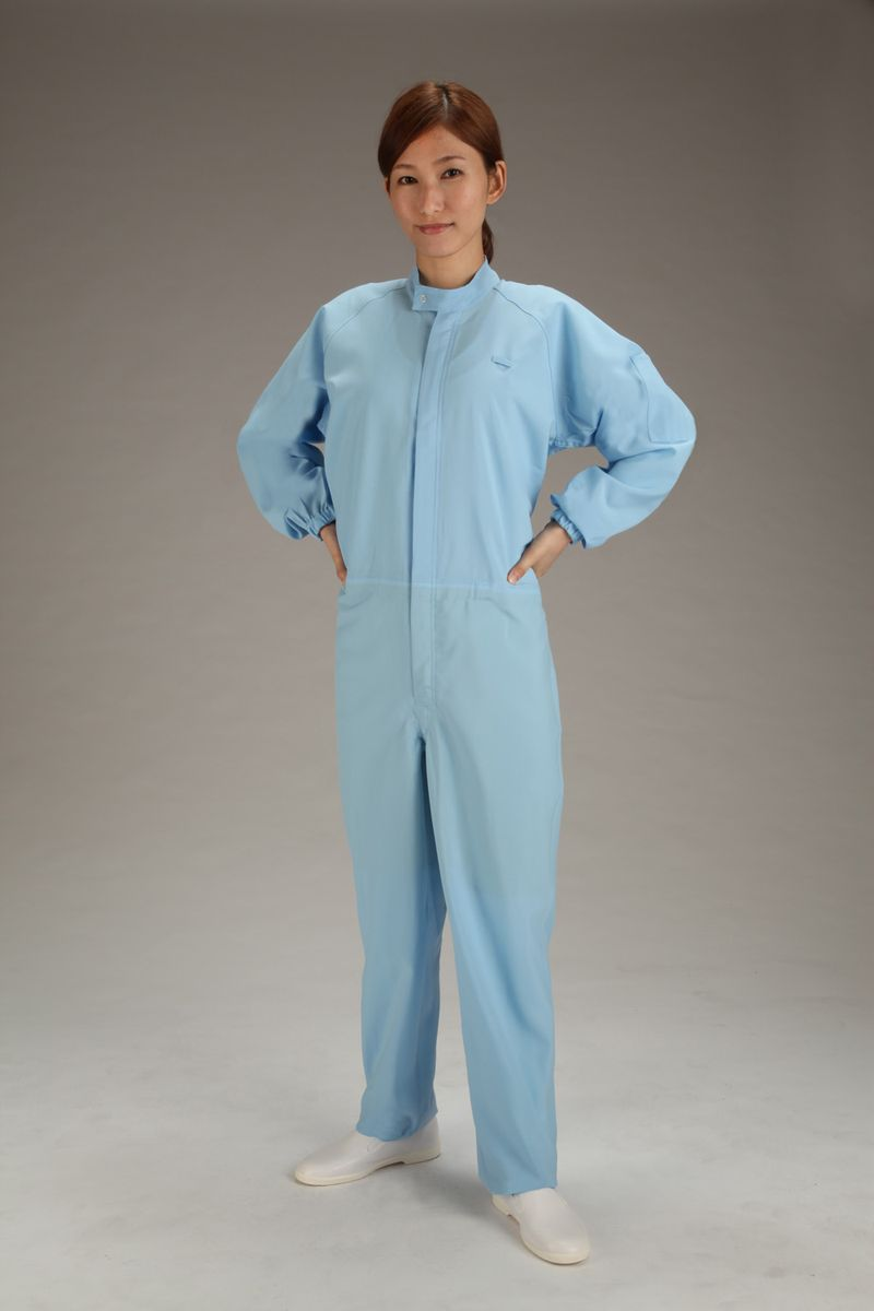 【メーカー在庫あり】 エスコ ESCO LL クリーンルーム用清涼継ぎ服 青/センターファスナー 000012233707 JP店