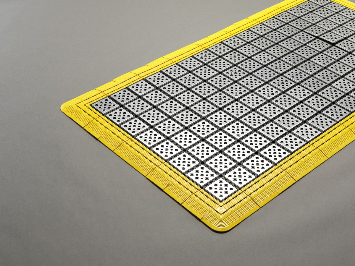 エスコ ESCO 1650x750mm ノンスリップメタルマット 000012266832 JP店