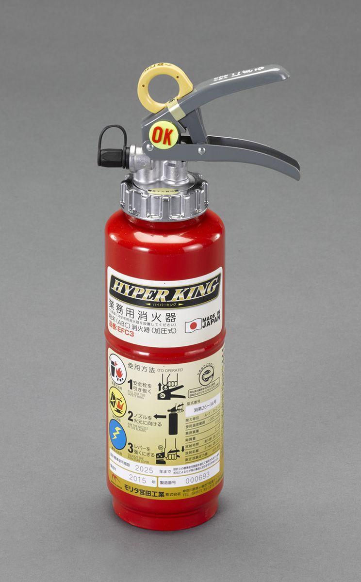 【メーカー在庫あり】 エスコ ESCO 3.0kg ABC消火器 000012056229 JP店