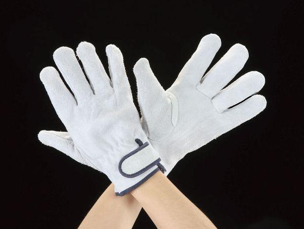 メーカー在庫あり エスコ 出荷 ESCO LL オンラインショップ JP店 牛床革 EA353BE-93 手袋