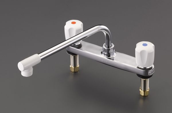 【メーカー在庫あり】 EA468CY-41 エスコ ESCO 2ハンドル混合水栓