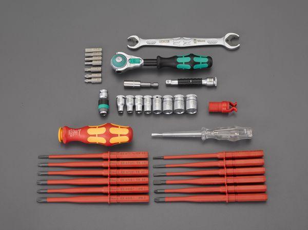 【メーカー在庫あり】 EA562WK-1 エスコ ESCO 35本組 ツールセット(機械メンテナンス用)