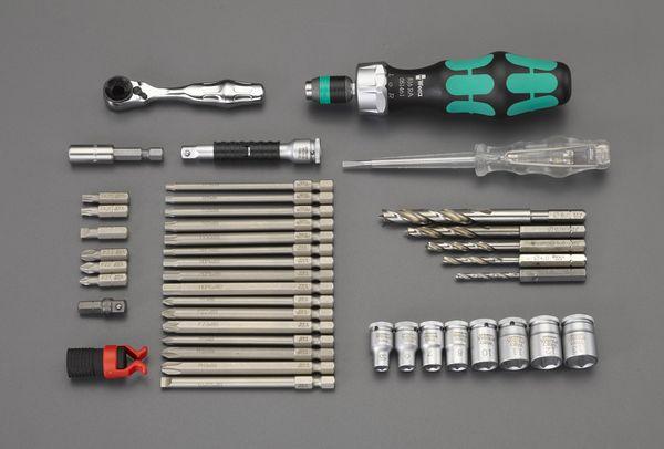 【メーカー在庫あり】 EA562WK-2 エスコ ESCO 41本組 ツールセット(木工用)