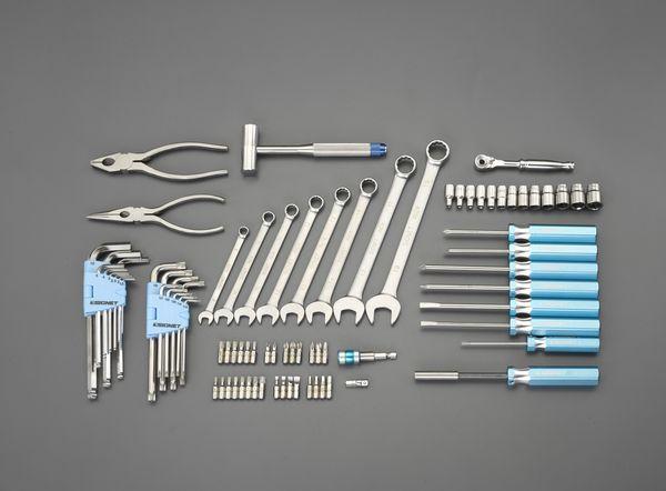 EA76 エスコ ESCO [83個組] ステンレス工具セット