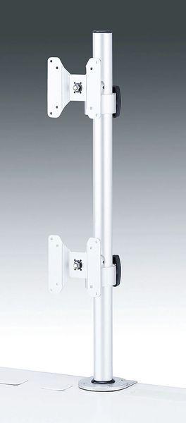 【メーカー在庫あり】 EA764AG-20 エスコ ESCO 700mm モニターアーム(水平垂直可動/2面)