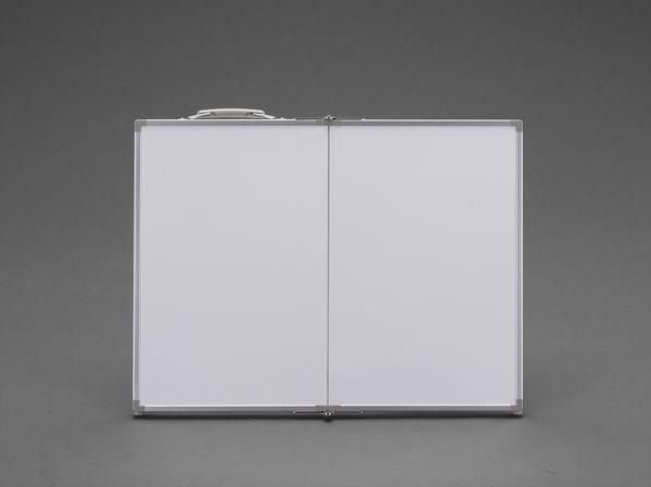【メーカー在庫あり】 EA766ZF-51 エスコ ESCO 450x600mm 工事用ホワイトボード(横型無地折畳式