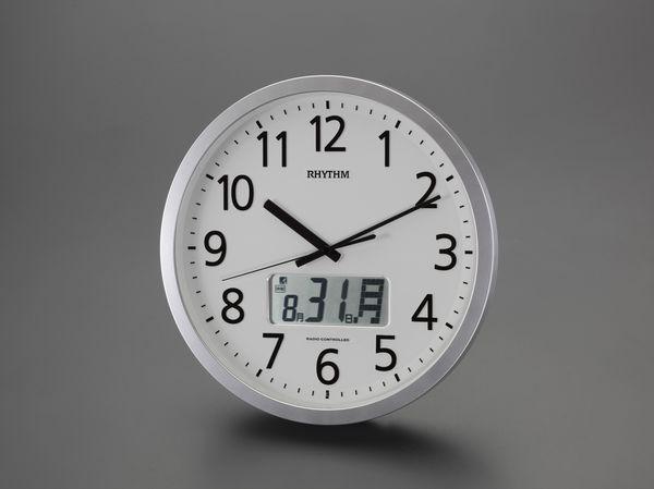 【メーカー在庫あり】 EA798CB-73B エスコ ESCO φ350mm [電波]掛 時 計