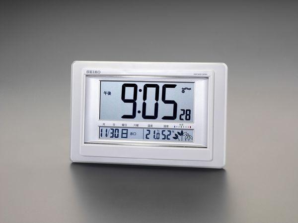 【メーカー在庫あり】 EA798CS-34B エスコ ESCO 194x300x34mm [電波] 掛・置兼用時計