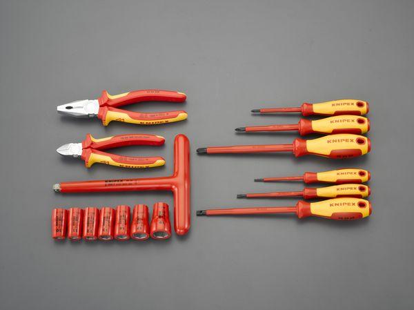 【メーカー在庫あり】 EA640XC-22 エスコ ESCO [16個組] 絶縁工具セット