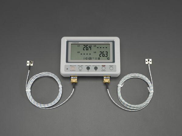 【メーカー在庫あり】 EA742GB-62 エスコ ESCO 温度データロガー(表面用センサー付)