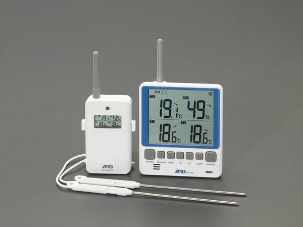 【メーカー在庫あり】 EA742MG-7A エスコ ESCO [リモコンセンサー付] 最高最低温湿度計