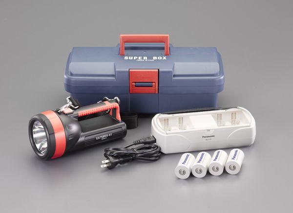【メーカー在庫あり】 EA758RX-741 エスコ ESCO [単1x4本] フラッシュライト/LED(充電池セット)