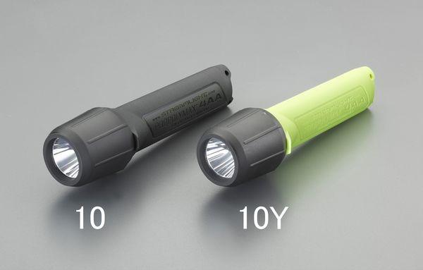 【メーカー在庫あり】 EA758SB-10 エスコ ESCO [単3x4本] フラッシュライト/LED(防爆構造/黒)
