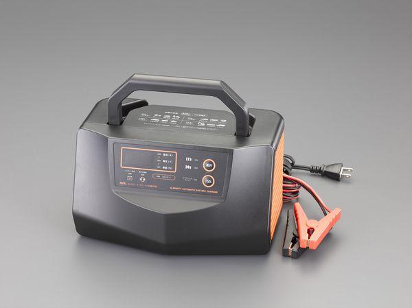 【メーカー在庫あり】 EA815YA-26 エスコ ESCO AC100V 自動充電器(アイドリングストップ車対応)