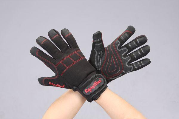 【メーカー在庫あり】 EA915GF-28 エスコ ESCO [L] 手袋(防寒 -32℃/PVC・スパンデックス/黒)