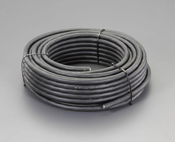 EA940AG-250A エスコ ESCO 600V/28A/ 50m ゴムキャプタイヤ ケーブル(3芯)