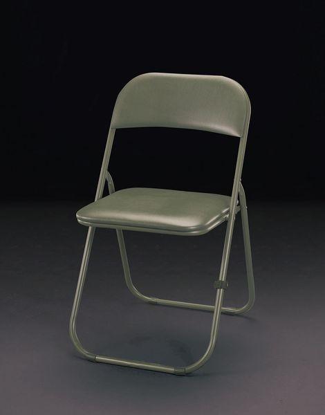 【メーカー在庫あり】 EA956XE-38 エスコ ESCO 460x485x800mm 折畳み椅子(OD色/4脚)