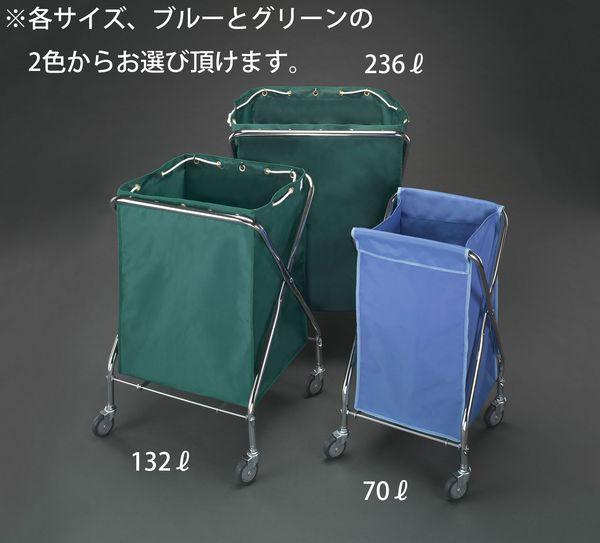 【メーカー在庫あり】 EA995AA-53F エスコ ESCO 664x646x915mm ダストカート(エコ袋(青)付)
