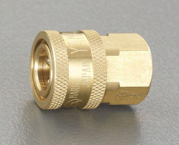 【メーカー在庫あり】 エスコ ESCO RC1・1/2インチ雌ねじカップリング(中圧用/真鍮) EA140BC-12 JP店