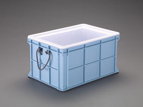 【メーカー在庫あり】 エスコ ESCO 656x456x368mm/54L 保冷コンテナ(青) EA506AF-42 JP店