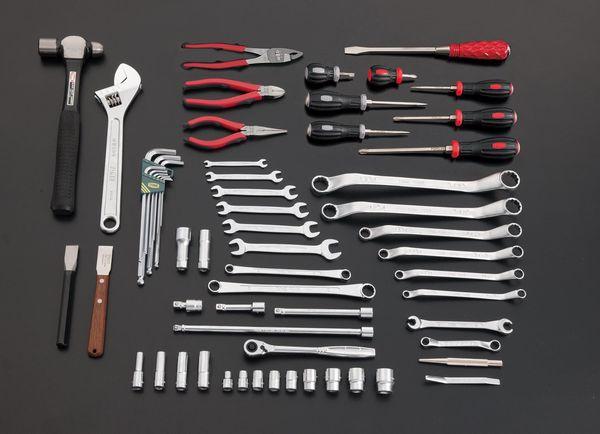 新規購入 エスコ EA612SC-61 ESCO JP店 62個組 ツールワゴン付工具セット EA612SC-61 エスコ JP店, きもの幸造:37ab330a --- clftranspo.dominiotemporario.com