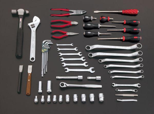 【メーカー在庫あり】 エスコ ESCO 55個組 ツールワゴン付工具セット EA612SC-62 JP店