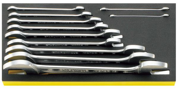 【メーカー在庫あり】 エスコ ESCO 11本組 両口スパナセット EA612TG-1 JP店
