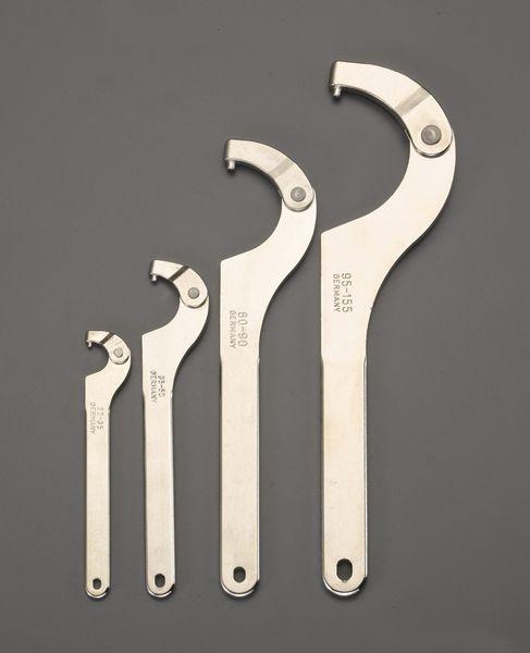 【メーカー在庫あり】 エスコ ESCO 22-155mm 4本組自在フックレンチセット(ピン型) EA613XG JP店
