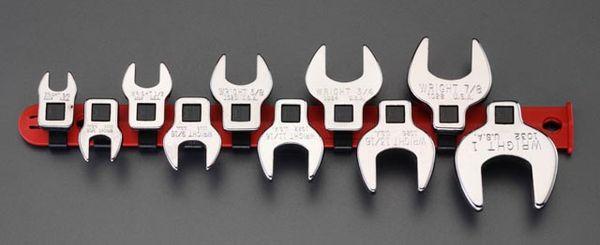 【メーカー在庫あり】 エスコ ESCO 3/8インチsq   CROW FOOT スパナセット EA617AS-100A JP店