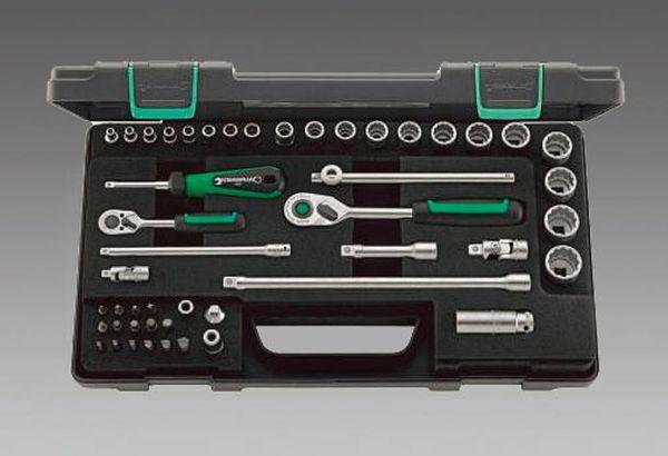 【メーカー在庫あり】 エスコ ESCO 1/4インチ・3/8インチsq ソケットレンチセット EA617BC-9 JP店