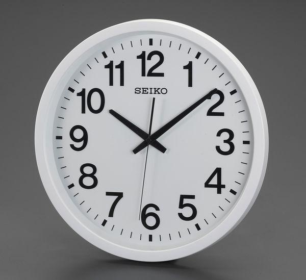 【メーカー在庫あり】 エスコ ESCO φ390mm 衛星電波 掛時計 EA798CC-102 JP店