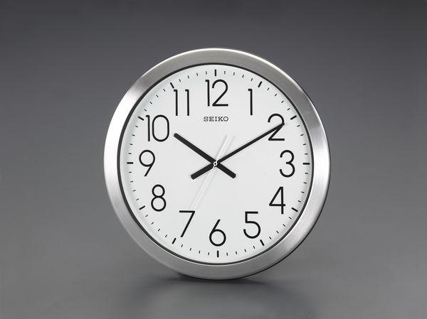 【メーカー在庫あり】 エスコ ESCO φ444mm 防湿・防塵 掛時計 EA798CC-93 JP店