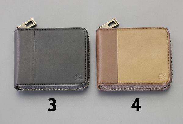 【メーカー在庫あり】 エスコ ESCO 115x 95x20mm 二つ折り財布 (茶) EA927BR-4 JP店