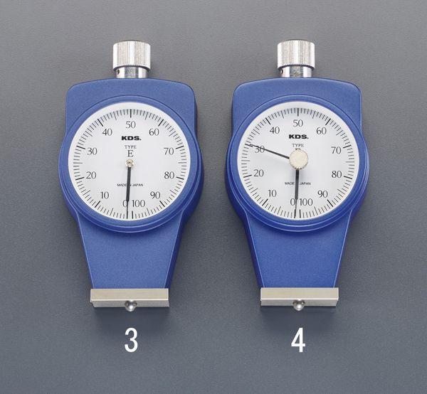 【メーカー在庫あり】 0-100 硬度計(ゴム用/置針型) EA716DK-4 JP店